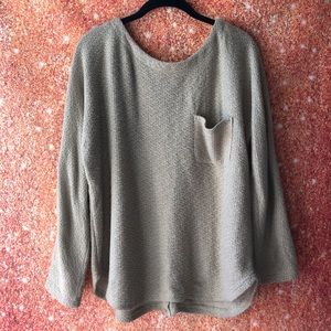 Ya Los Angeles open knit button design back womens